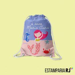 Mochilinha   Sacochila personalizada para Festa Infantil 40e63d379fb